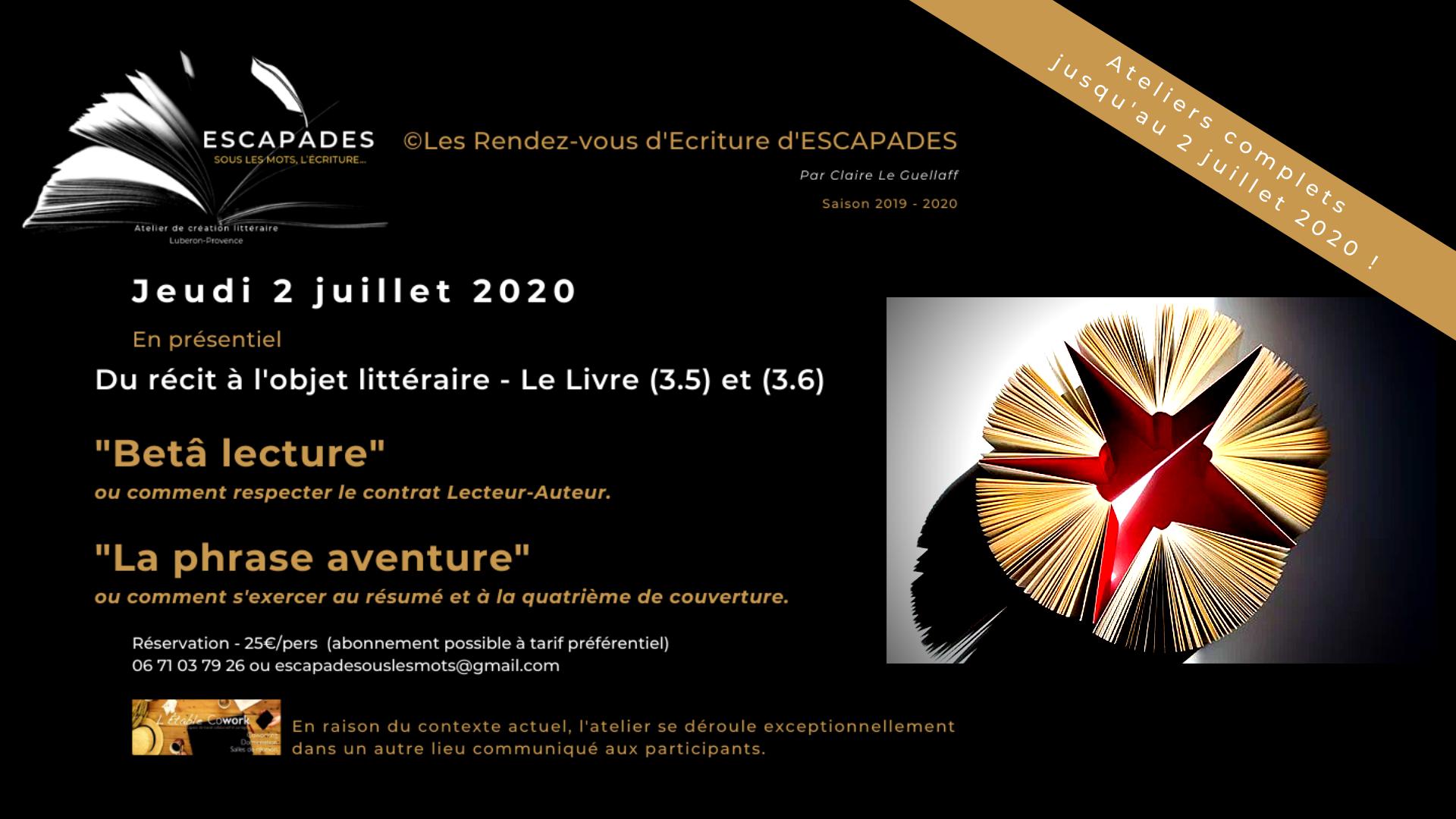 """Du récit à l'objet littéraire  (Cycle 3.5 et 3.6) : """"La Bêta lecture"""" et """"La phrase aventure""""."""