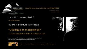 """Du projet d'écriture au récit (Cycle 2.2) : """"Dialogue et monologue."""""""