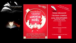 ESCAPADES Sous les mots Marché de Noël 2018 Althen-des-Paluds Ateliers découverte