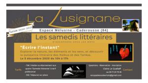 """©Les Samedis Littéraires """"Écrire l'instant"""" le 5 décembre 2020"""