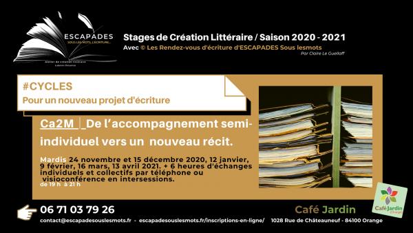ESCAPADES Sous les mots - #CYCLES Ca2M / Prog Saison 2020-2021Café jardin_2