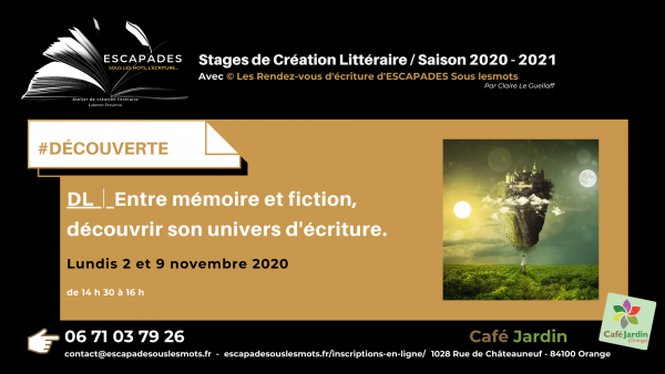 ESCAPADES Sous les mots - #DECOUVERTE L/ Prog Saison 2020-2021Café jardin_2